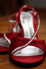 her shoes! (lindsmae) Tags: wedding red love tom groom bride shoes couple jamie wed heels newlyweds redheels lampron