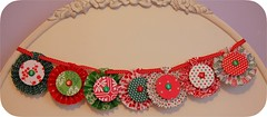 """Believe"" Banner (GoingSewCrazy) Tags: christmas red green diy holidays handmade banner decoration craft garland believe crafty brads rosettes cardstock"
