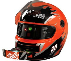 NASCAR Helmet with Radio and CD Player by momentimedia