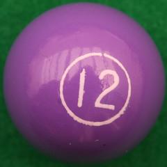 Miniature Pool Ball 12 (Leo Reynolds) Tags: squaredcircle number 12 twelve canon eos 40d 02sec f14 iso100 60mm 0ev xsquarex numberset pool sqset032 xleol30x hpexif xratio1x1x xxx2008xxx 10s xxxtensxxx