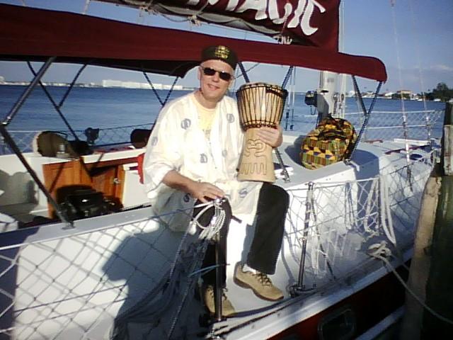 buddy sitting sailboat