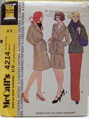 Vintage McCalls Sewing Pattern 4214 UNCUT and FACTORY FOLDED Mod Wrap Jacket Coat and Skirt NO PANTS IN PATTERN Size 14 Bust 36 Waist 28 Hip 38 (Sassy By Design) Tags: vintage clothing mod pattern sewing coat skirt jacket 70s etsy size14 bust36 sassybydesign waist28 hip38