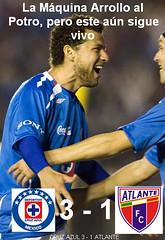 LA MÁQUINA ARROLLO AL POTRO, PERO ESTE AUN SIGUE VIVO (ClubDeportivoAzul) Tags: azul cruz fútbol atlante
