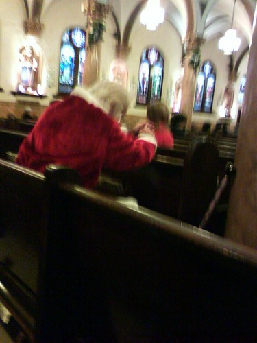 Santa at church