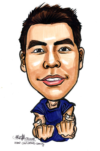 Caricature for Singapore Armed Forces 12