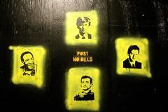 Post No Bills (Toronto) (ardenstreet) Tags: streetart toronto ontario canada fun graffiti funny urbanart postnobills ha billclinton billgates billcosby billmurray
