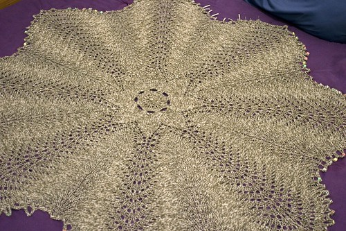 Blocking Whole Hemlock Afghan