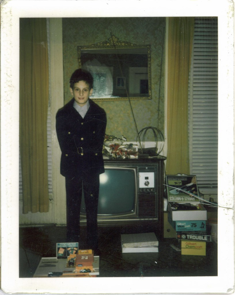 Tony in Mod Jacket in 1971 Polaroid TV Magnavox 70s