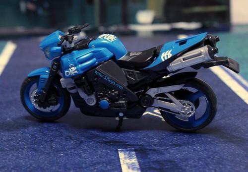 Transformers 2 moto azul