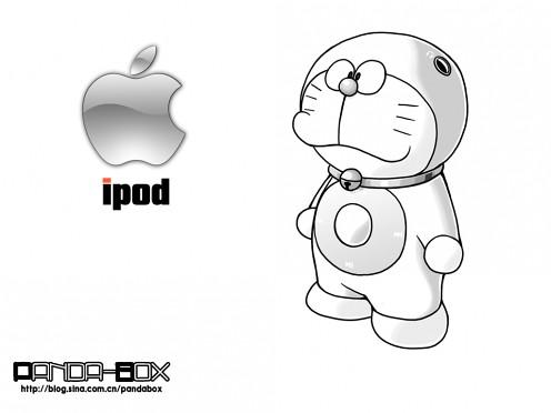 gato cósmico Doraemon iPod