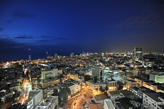 Rain Cleans Tel Aviv (Or Hiltch) Tags: city longexposure night work landscape israel telaviv view towers explore 14mm d700 orhiltch gimemay1513