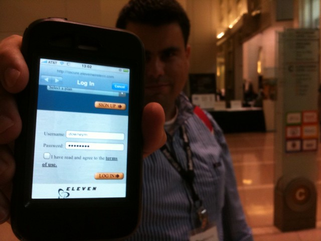 Yes, @downeym paid for Internet access at #mhs09