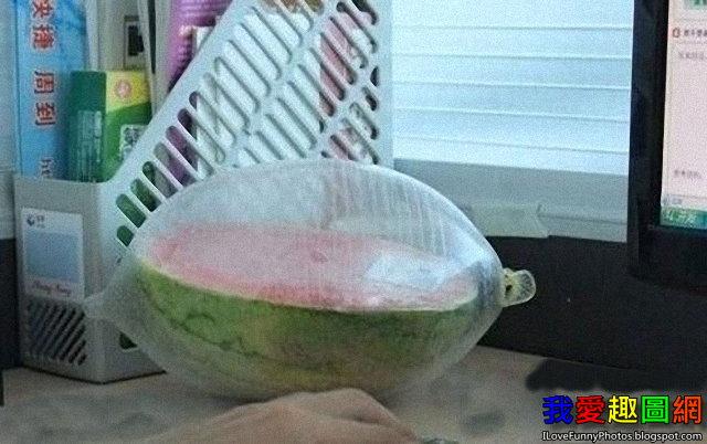 為西瓜保鮮的最新方法 Watermelon [我愛趣圖網]