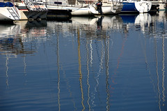 Port in Yvoire (olszuffka) Tags: red france colour reflection port harbor boat paint geneva harbour yvoire lacgeneva laclemon
