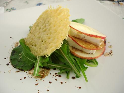 Parmesan wafer salad