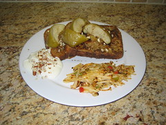 French Toast with Baked Apples