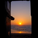 Sunset through the doorway of the R'bat surf grotto