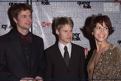Gale Harold, Randy Harrison and Michelle Clunie (Randy Harrison Fans Club) Tags: showtime premiere qaf randyharrison galeharold halsparks winonaryder peterpaige scottlowell theagill publicappearance sharongless michelleclunie robertgant queerasfolks capotescreening jackwetherall