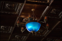 blue light special (vcrimson) Tags: nottingham england dark goth fancy pitpendulum eeriepubco pubgothicgargoyles