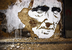 Chisel face by Vhils (greenwood100) Tags: white streetart brick london art portugal wall paint artist lisbon debris banksy plaster southbank waterloo chisel portuguese lambeth scratchingthesurface vhils leakestreet alexandrefarto cansfestival upcoming:event=572837 vhilsleakestreetcansfestivalbanksystreetartvhils lazaridies