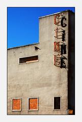 The end of an era (han_solo) Tags: madrid old windows cinema ladrillo sign wall photoshop marquee pared closed bricks rusty cine colores ventanas cerrado viejo antiguo cartel oxidado vallecas