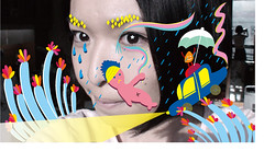 face (Chantal*) Tags: color face rain painting draw chantal      chantal