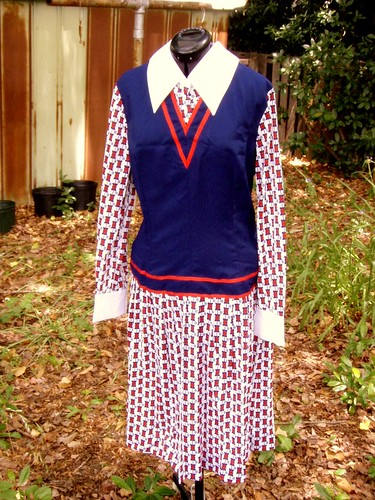 mod collared dress