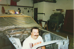 """Is it D-Day from """"Animal House"""" or is it Robert? (fatslick70) Tags: orange yellow mercury restoration musclecar 1970cougar"""