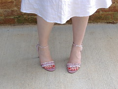 Colin Stuart Floral Gingham Sandals in (PrincessPoochie) Tags: red feet floral shoes toes legs princess sandals gingham heels straps buckles poochie colinstuart shoedaydreams