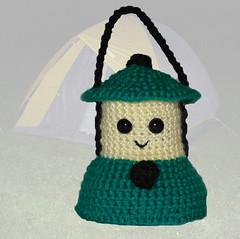 Cole the Little Lantern (theselovinghands) Tags: light camp green yellow team crochet lantern etsy amigurumi etsyhookers