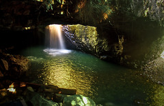 Into the Cave (Erik K Veland) Tags: green nature water pool landscape waterfall pond arch colours magic australia naturalbridge qld queensland inside cave fairies tamborine goldcoast springbrook mttamborine