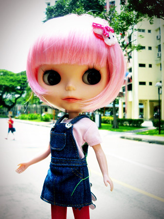 Blythe EBL Fruit Punch with Pink Wig by coinss.