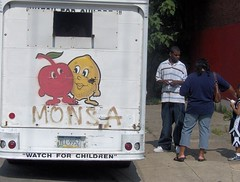 monsa (philascene) Tags: street city urban ice philadelphia water fruit truck children cherry grit lemon mural pennsylvania cream pa icecream summertime philly treat waterice monsa