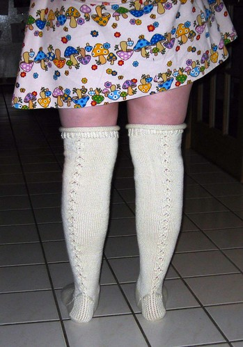 Finished over the knee stockings