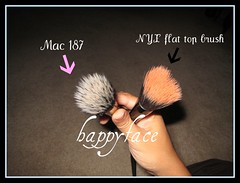 MAC 187 and NYX flat top brushes