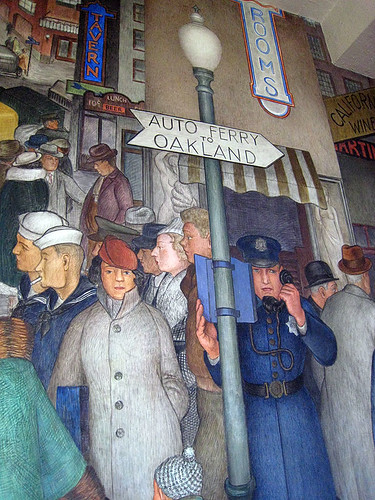 Detail of mural at Coit Tower