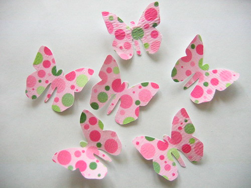 Pink Green Wrinkle Dots