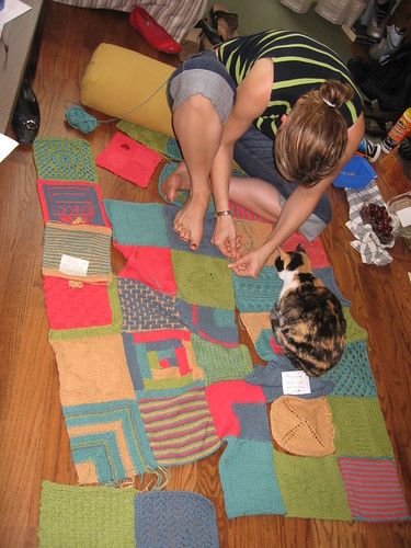 Bird's eye view of sewing up