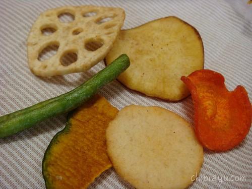 6種類の野菜チップス