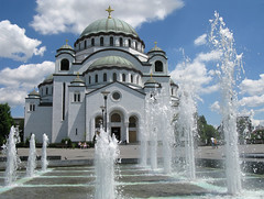 Uros Petrovic - Saint Sava's Temple (Uros Petrovic) Tags: fab white church uros fountain saint temple spring capital serbia jet saints save u belgrade beograd biggest sava petrovic srbija hram ortodox worldthroughmyeyes svetog beogradu