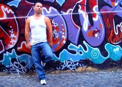 Roma 489 (danimaniacs) Tags: travel italy rome self colorful europe grafitti tank top