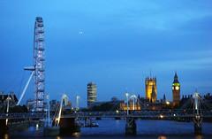 London view (Ana Gasston) Tags: london thames night londoneye bigben waterloo thamesriver waterloobridge londonnight southbacnk