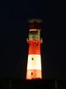 Borkum Leuchtturm bei Nacht