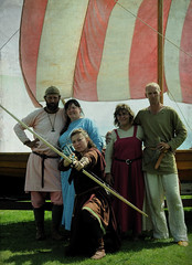 dream of the archer (anniedaisybaby) Tags: summer heritage history tourism festivals culture manitoba longboat archer vikings gimli reenactors interlake historicalreenactment vikingvillage femalewarrior icelandicfestivalofmanitoba costumedenactors