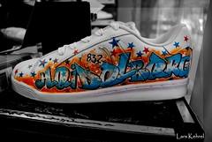 heidelberg shoe (Lars Kehrel) Tags: bw art k point shoe shoes pentax d kunst lars your 200 graffitti coloring runners sw heidelberg pimp airbrushing sales campaign colouring airbrush schuh selective airbrushed k200 tottoo k200d pimpmyshoe kehrel