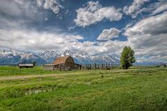 Mormon Row HDR (Michael Bandy) Tags: mountains nikon wyoming grandtetons tetons hdr oldbarn grandtetonnationalpark grandtetonsnationalpark sigma1020mm mormonrow mt