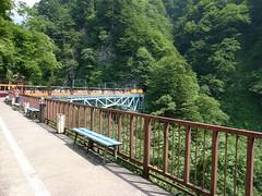 黒部峡谷鉄道の黒薙(くろなぎ)駅ホーム