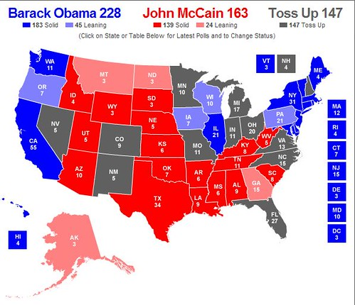 florida north of obama coast map mccain east states