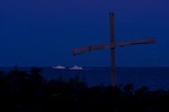 Watching Over Two (taryntella2) Tags: blue 2 night boat lowlight explore linescurves photofaceoffwinner pfogold