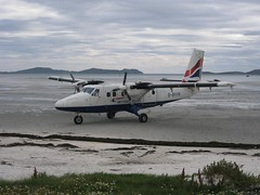 The only airport in the country where landings are restricted by the tides
